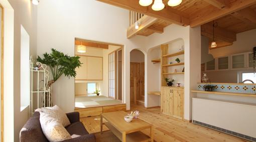 キッチンタイルがかわいい家 ...