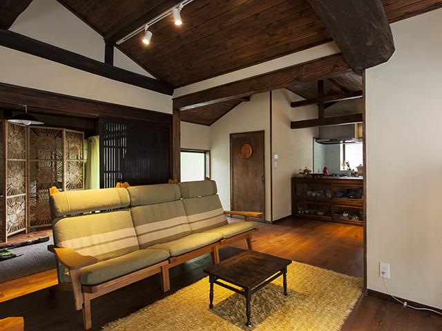 お気に入りの古家具が似合う 古民家のような家